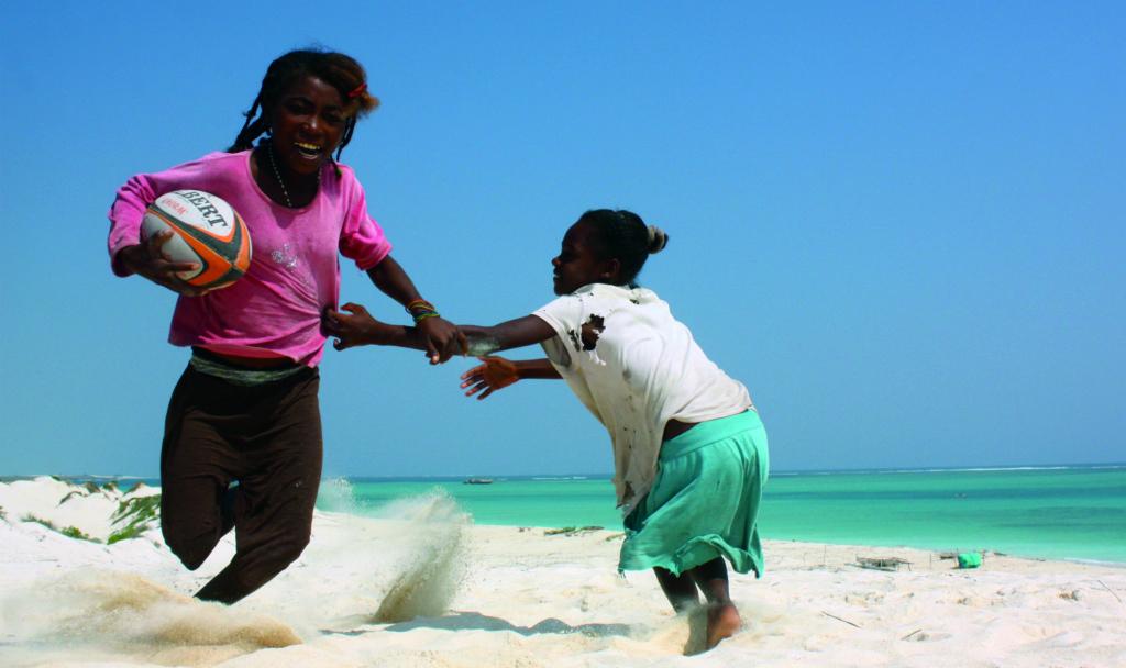 photo rugby plage féminin